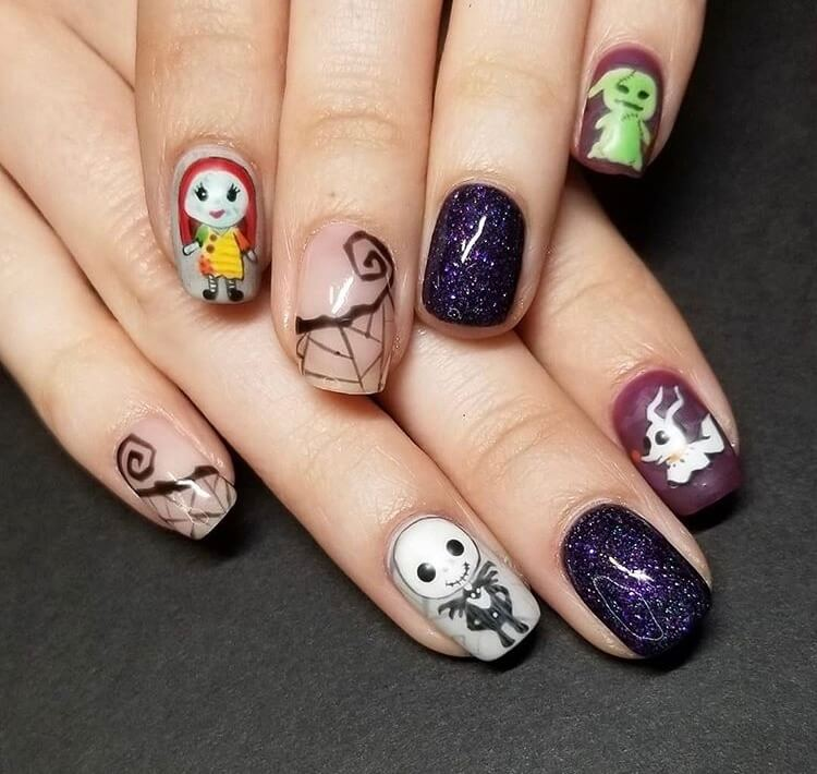 20 Cute Halloween Short Nails For 2020 – IdeasDonuts