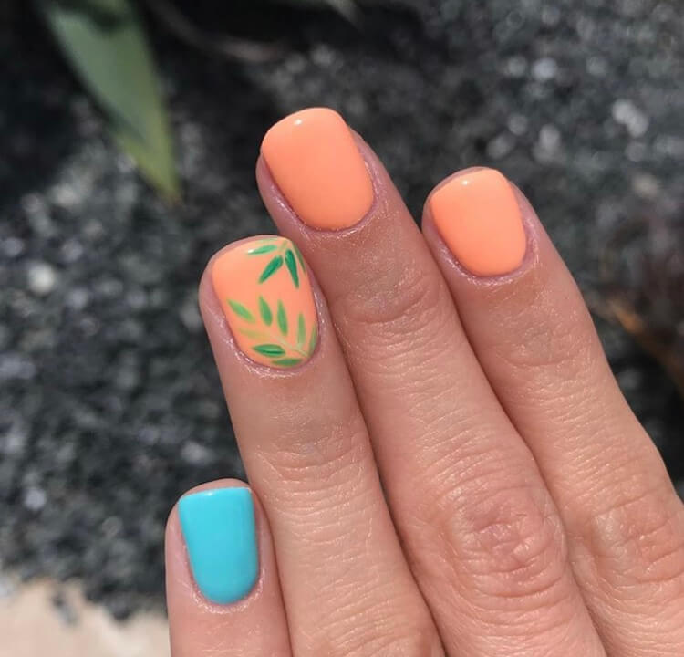 Are you looking for gel short nails for summer 2020? Check out these 21 nail design ideas with the best colors for summer and the best design elements that are simple and cute.