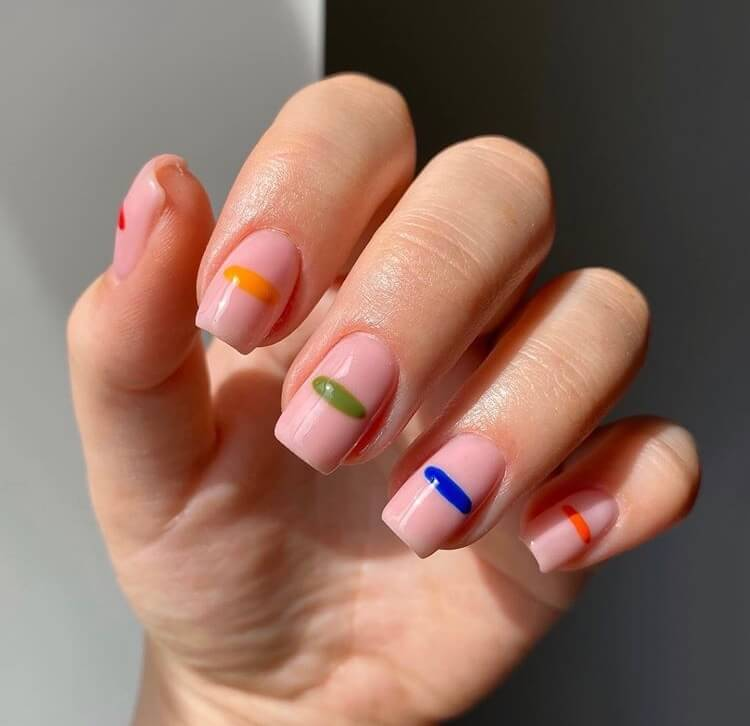 Short Summer Gel Nails 2020