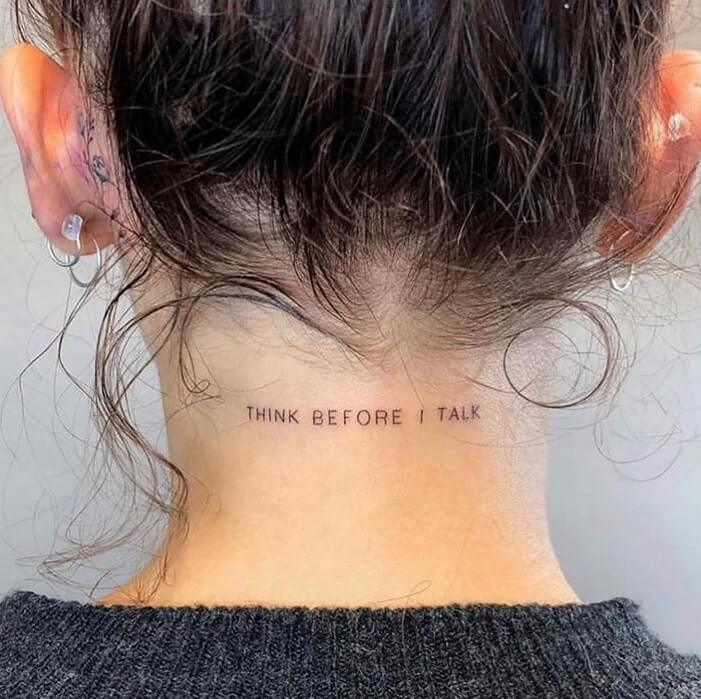 Quote Small Tattoo Ideas For Women