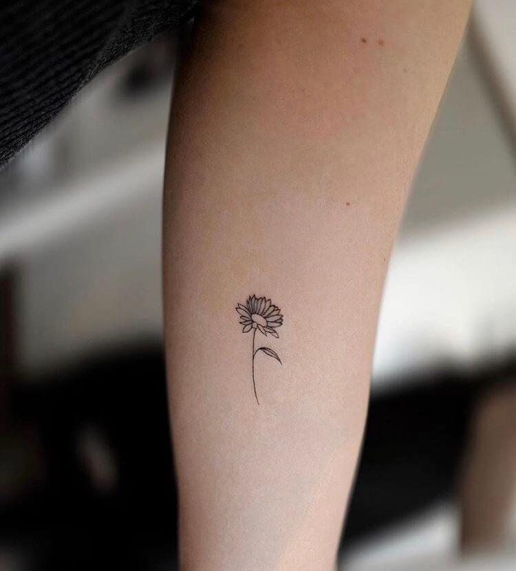 Sunflower Small Tattoo Ideas For Women