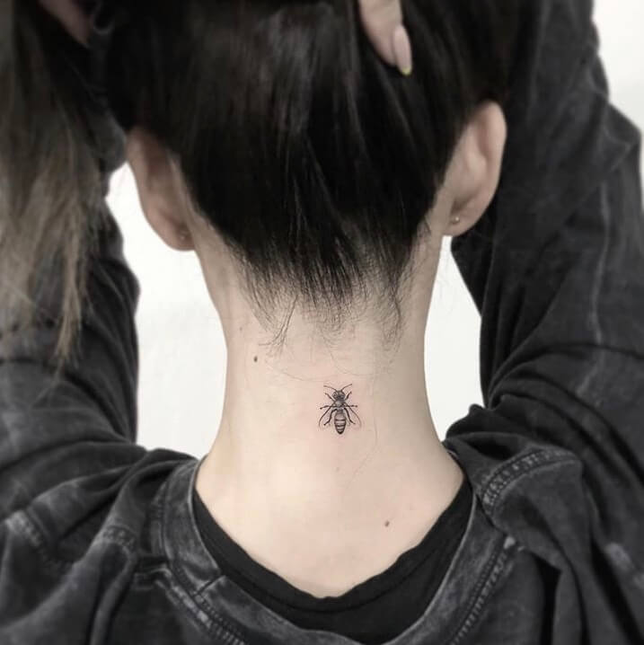 Bee Small Tattoo Ideas For Women