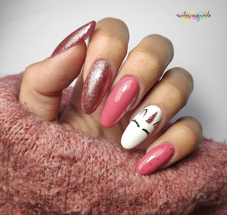 Cute Pink Long Nails