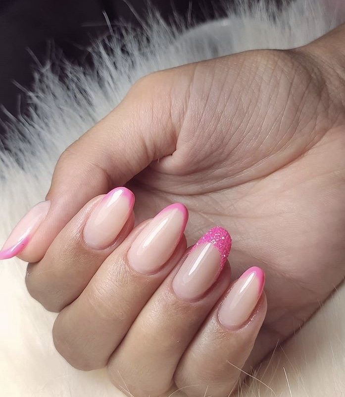 French Pink And Nude Nails