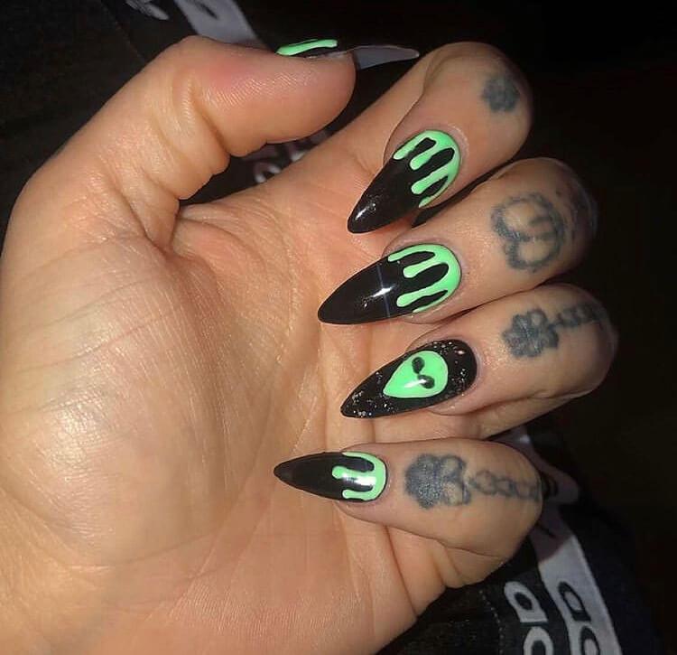 long acrylic Halloween nails