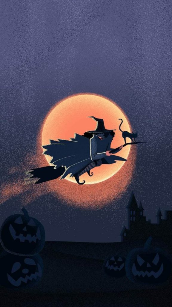 Cute HD Halloween phone wallpapers