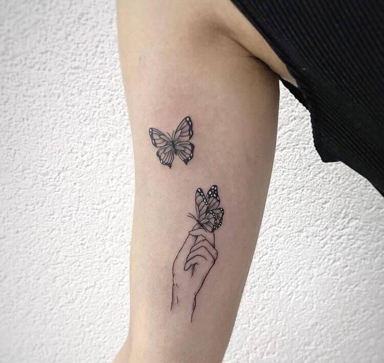 Butterfly tattoo ideas for women