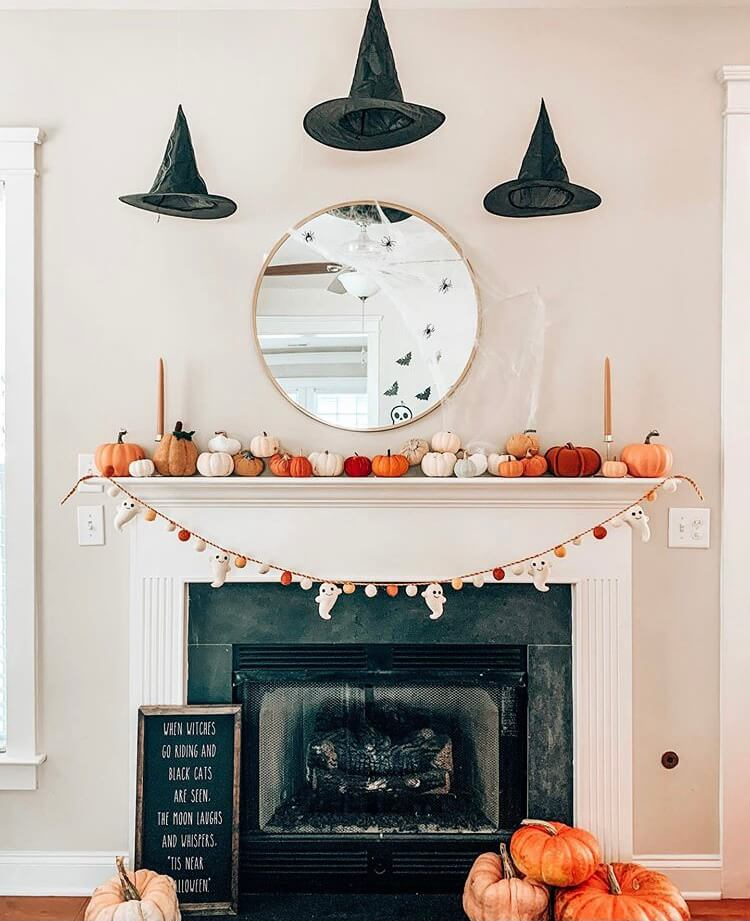 Halloween fireplace decoration ideas