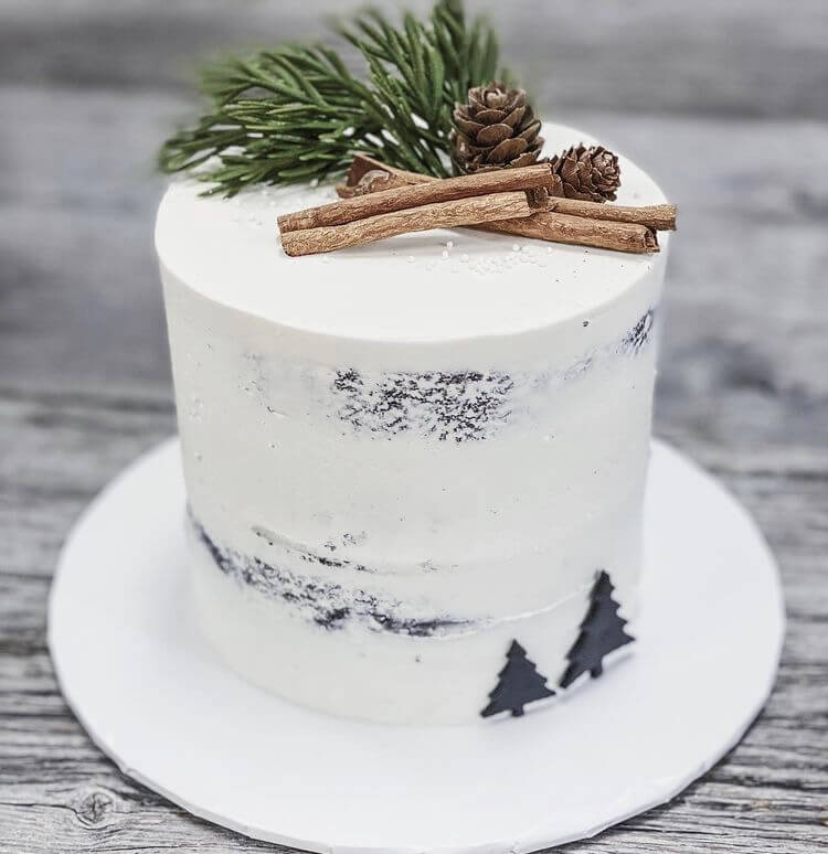 Do you want to bake a delicious and beautiful Christmas cake? Then these amazing design ideas can inspire you. #Christmas