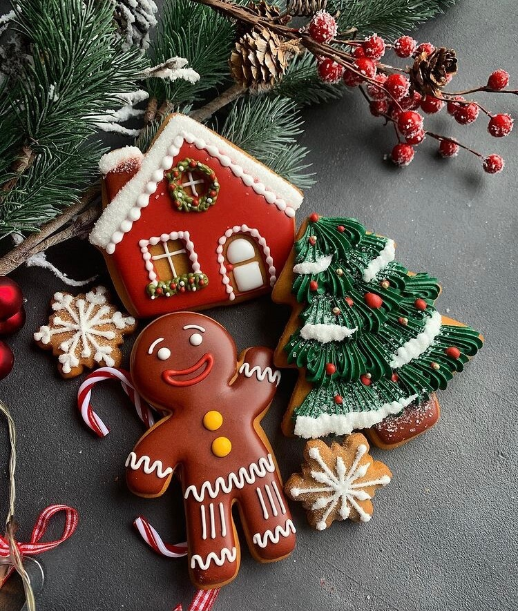 Cookies are the most important part of Christmas, so we have plenty of reasons to use the holiday time to prepare a batch of cute Christmas cookies. #Christmas