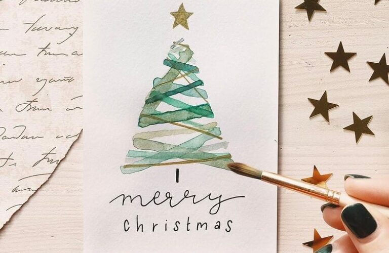 19+ Pretty Handmade Christmas Card Ideas