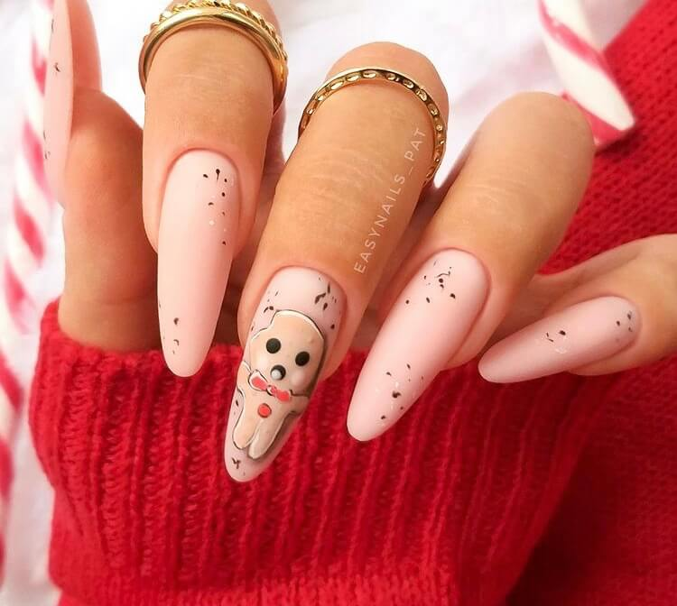 Christmas long acrylic nails must be one of the most popular holiday nail designs. If you are still thinking about which nail style to choose, why not choose this one? It is definitely worth trying.