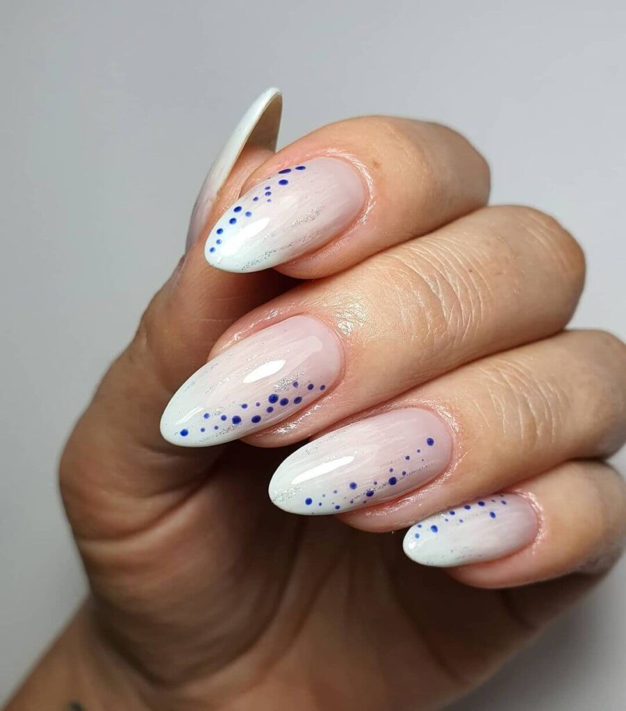 cute Dot Almond Nails