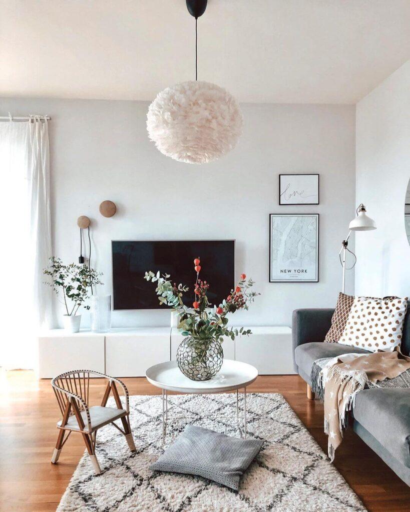 Unique living room chandelier