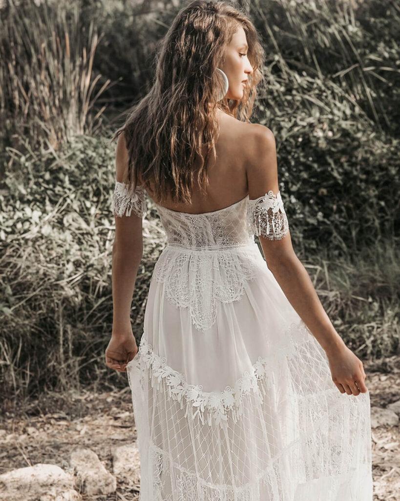 Chic Bohemian Wedding Dress ideas