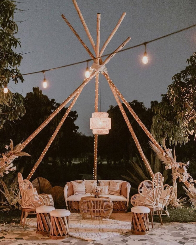 Bamboo furniture decoration
