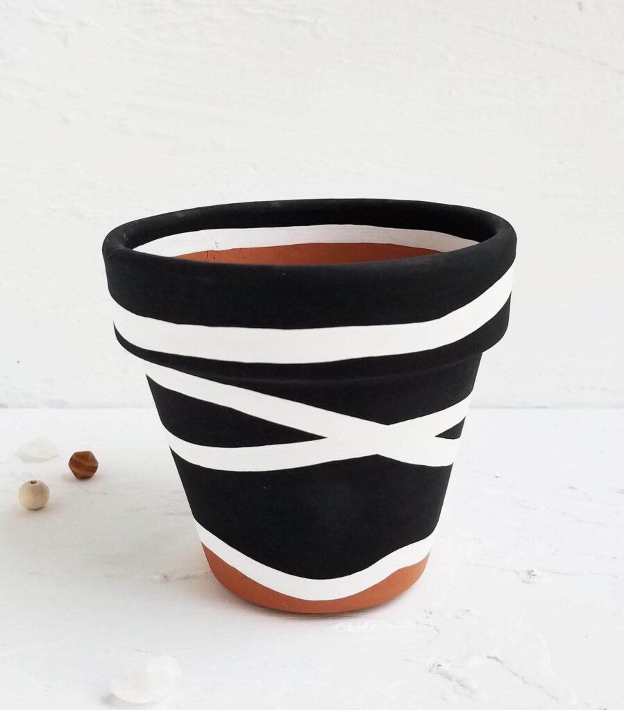 Black with white stripes