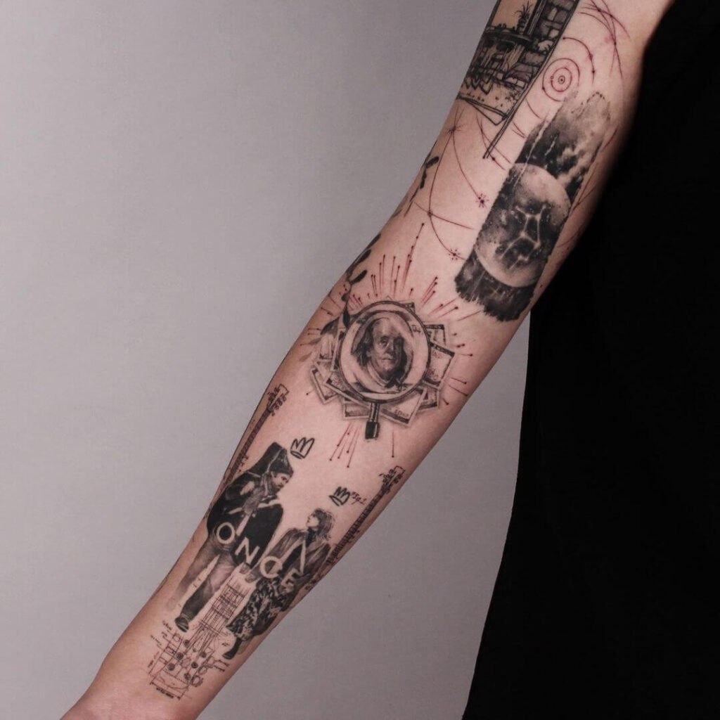 Combination sleeve tattoo