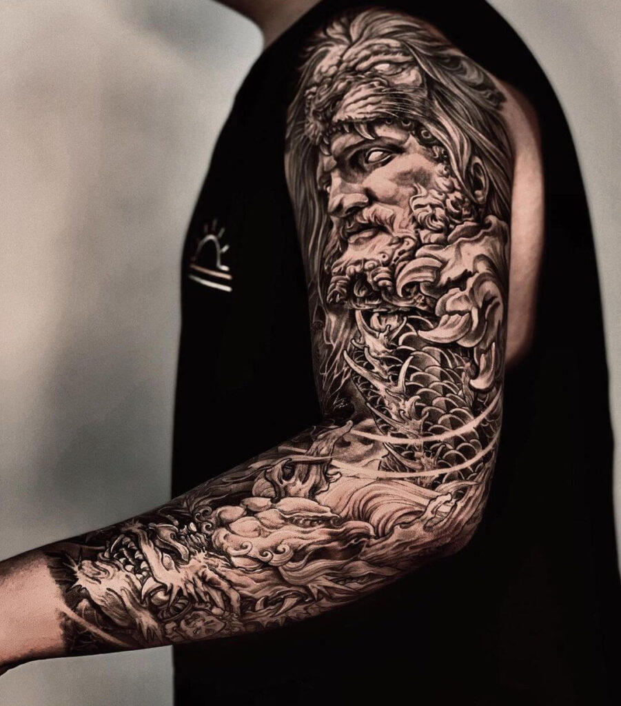 God Sleeve Tattoo