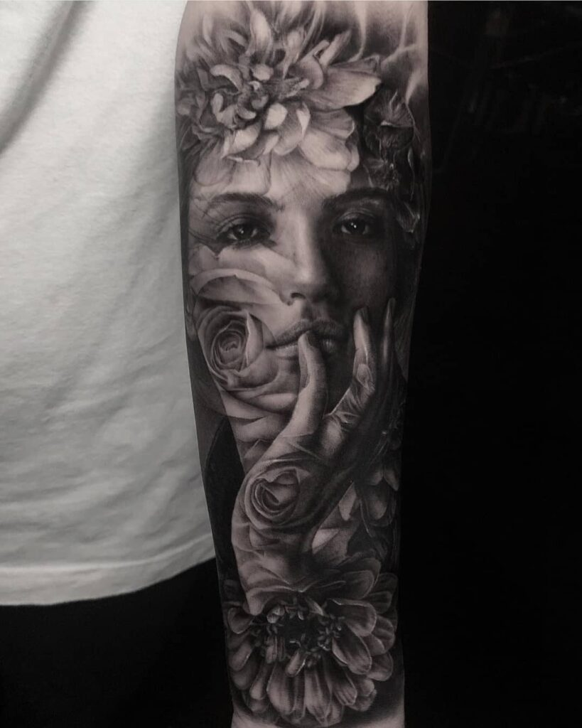 Creative sleeve tattoo