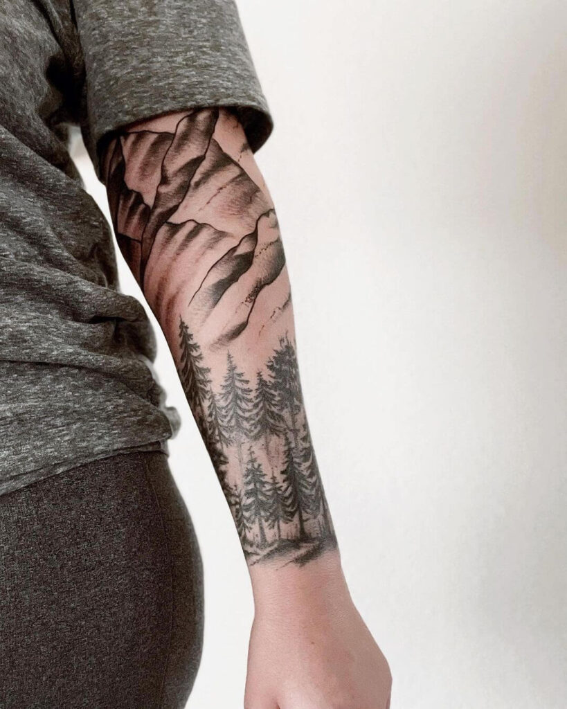 Natural sleeve tattoo