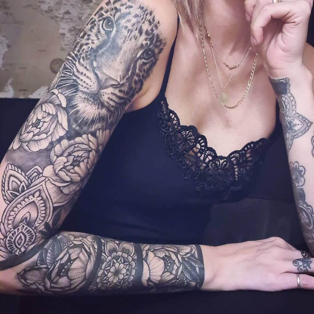 Tiger Full Sleeve Tattoo