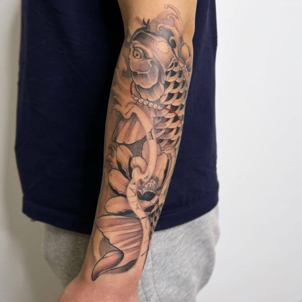Fish sleeve tattoo