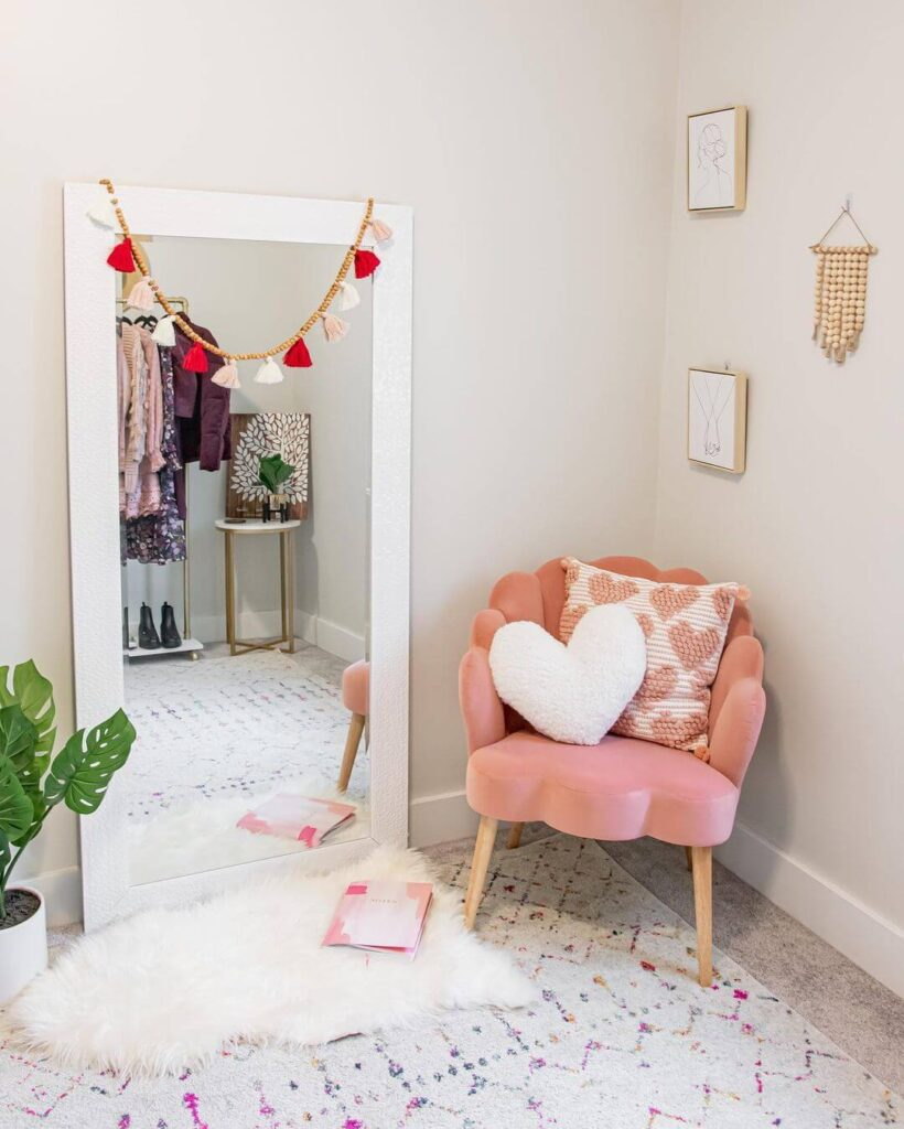 Valentine's Day leisure area decor
