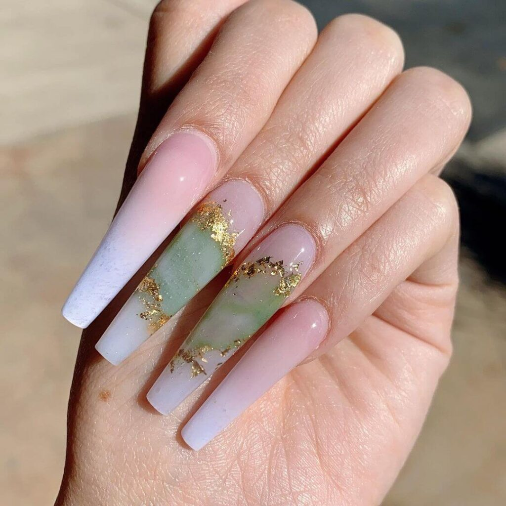 Creative Long Acrylic Valentine's Day Nails