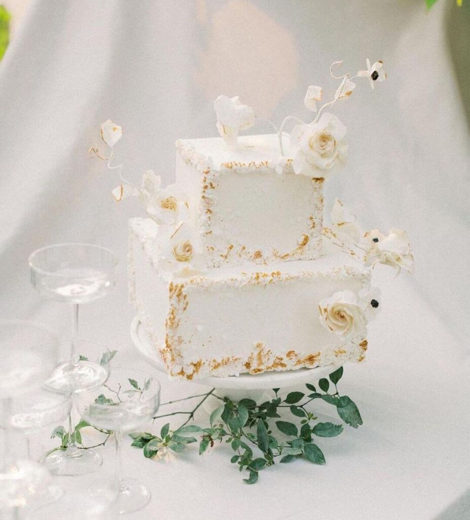 Rectangular wedding cake