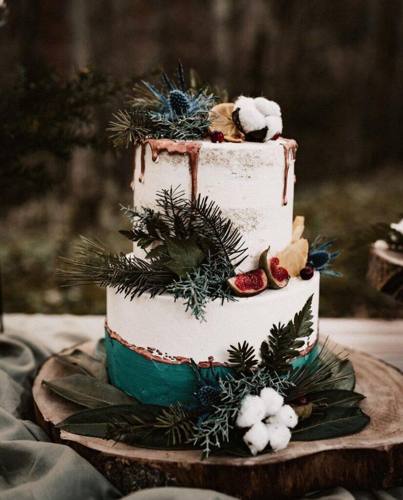 Unique boho cake