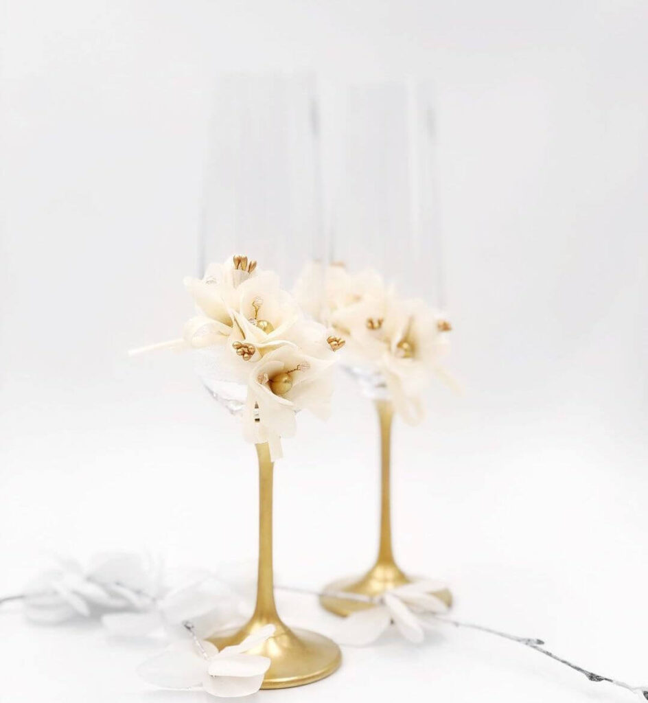 Elegant wedding glasses