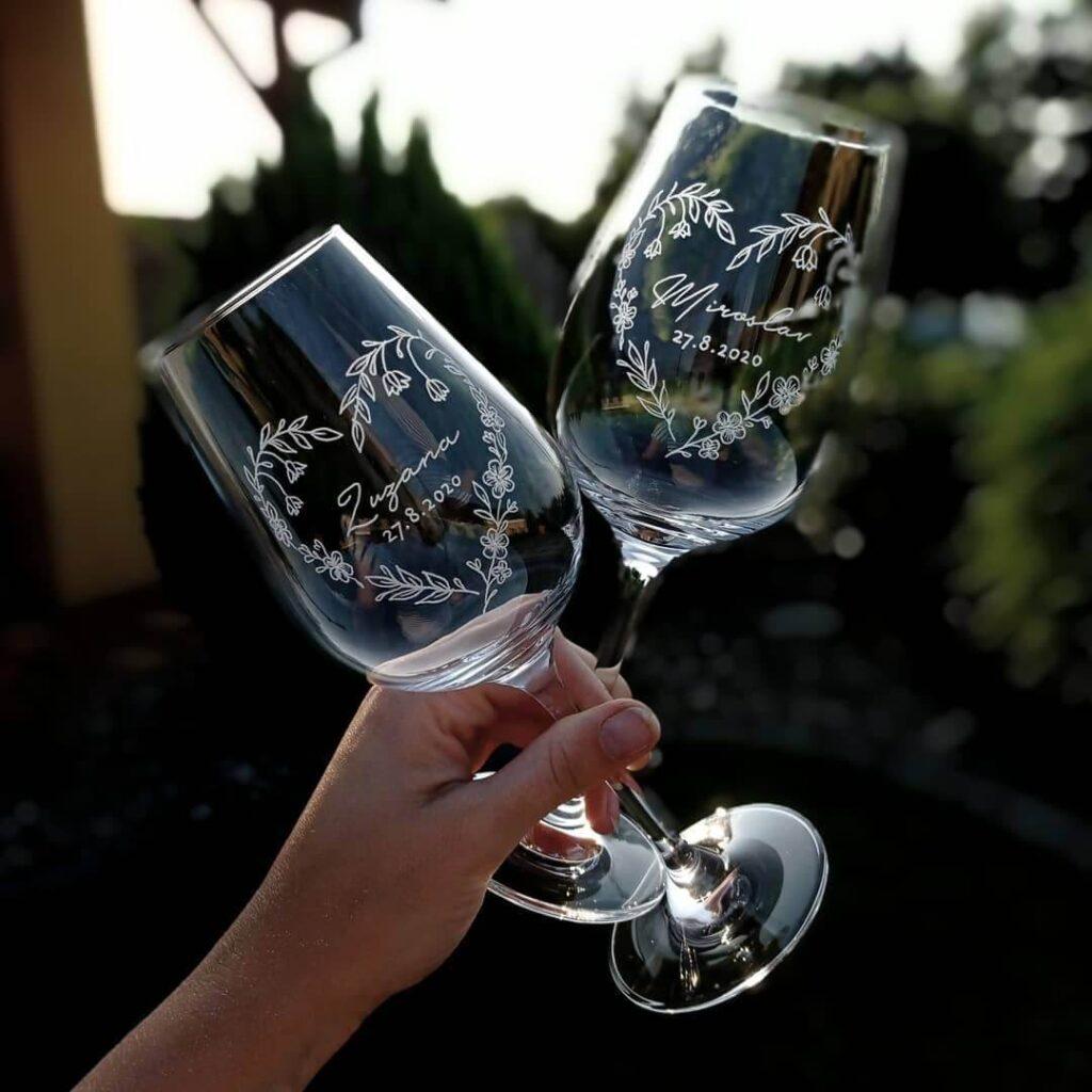 personalised wedding glasses