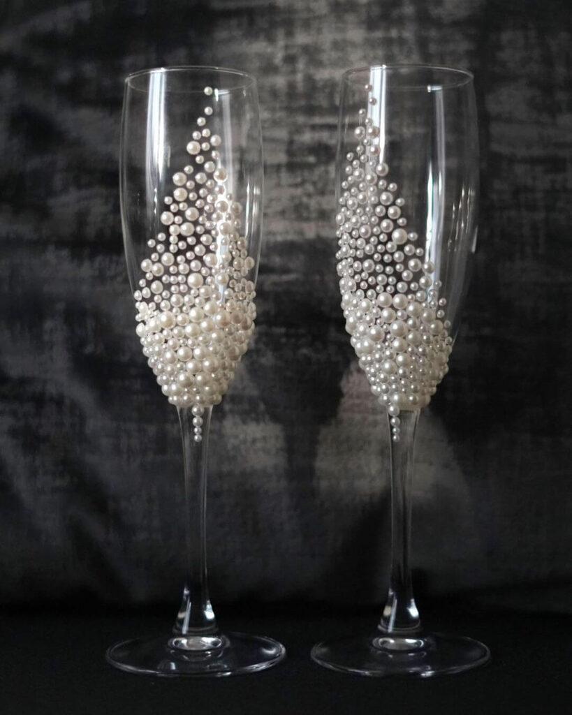 Pearl Wedding glasses