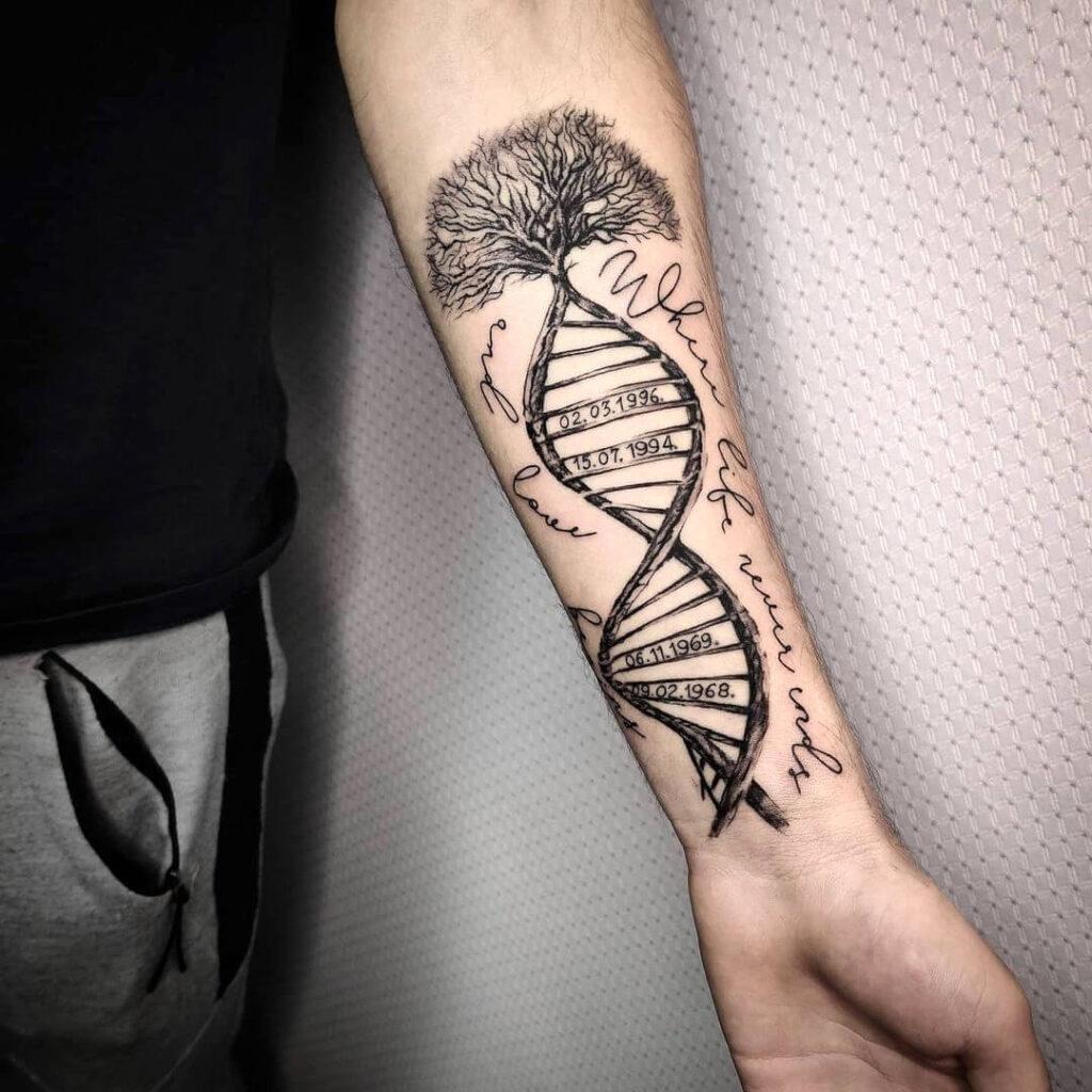 DNA Family Tattoo