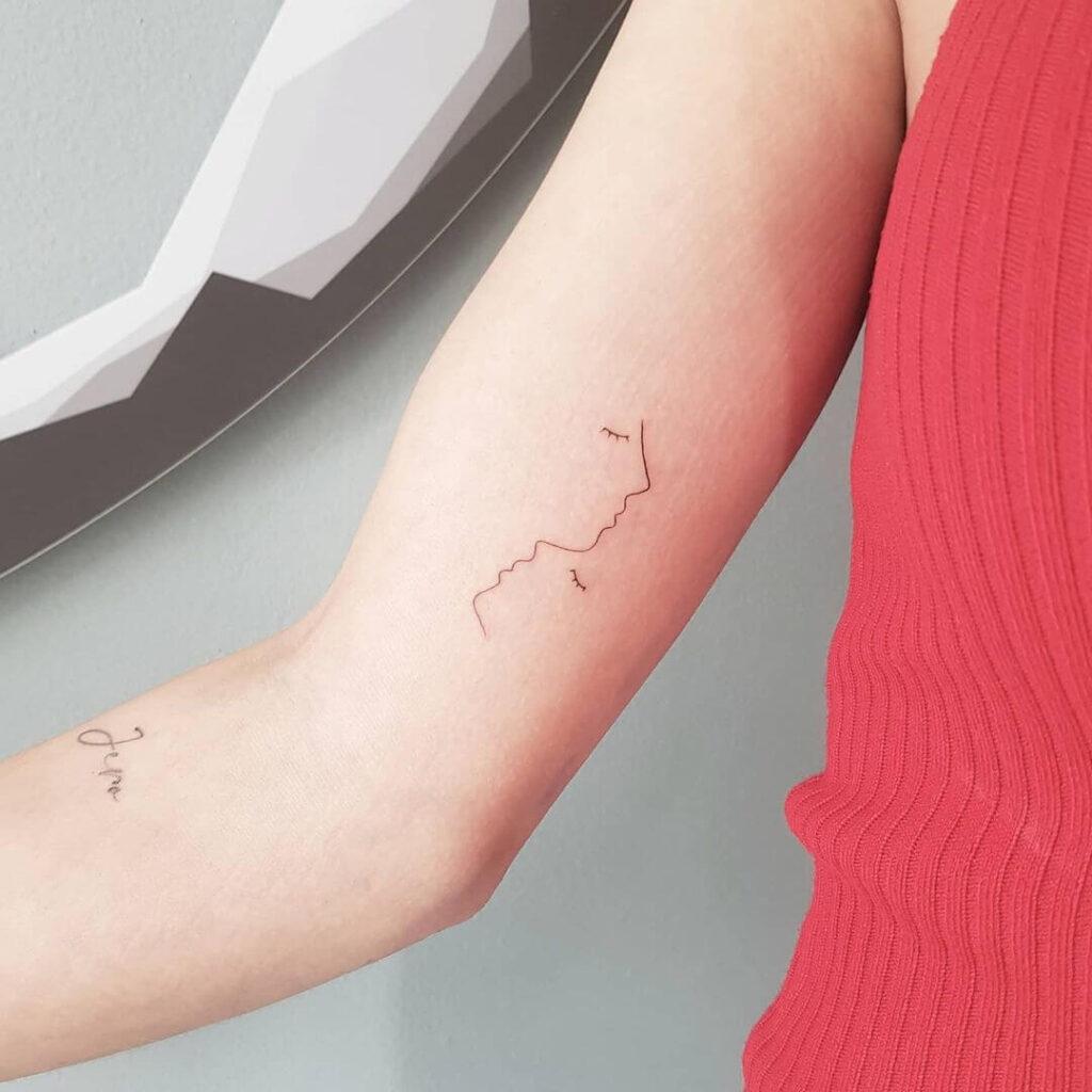 Abstract family tattoo