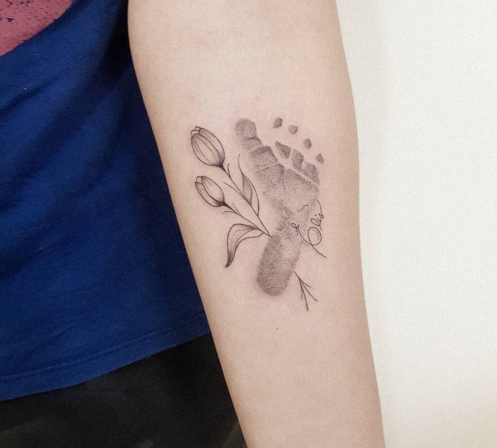Footprint Family Tattoo