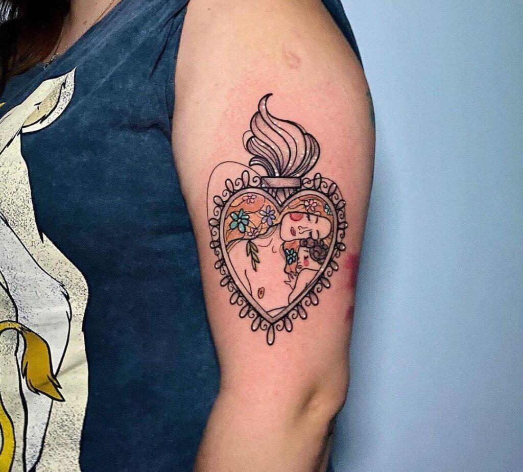 Sacred Heart Family Tattoo