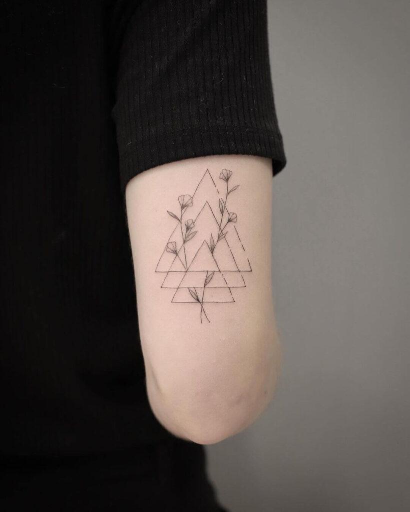 Geometric Creative Family Tattoo