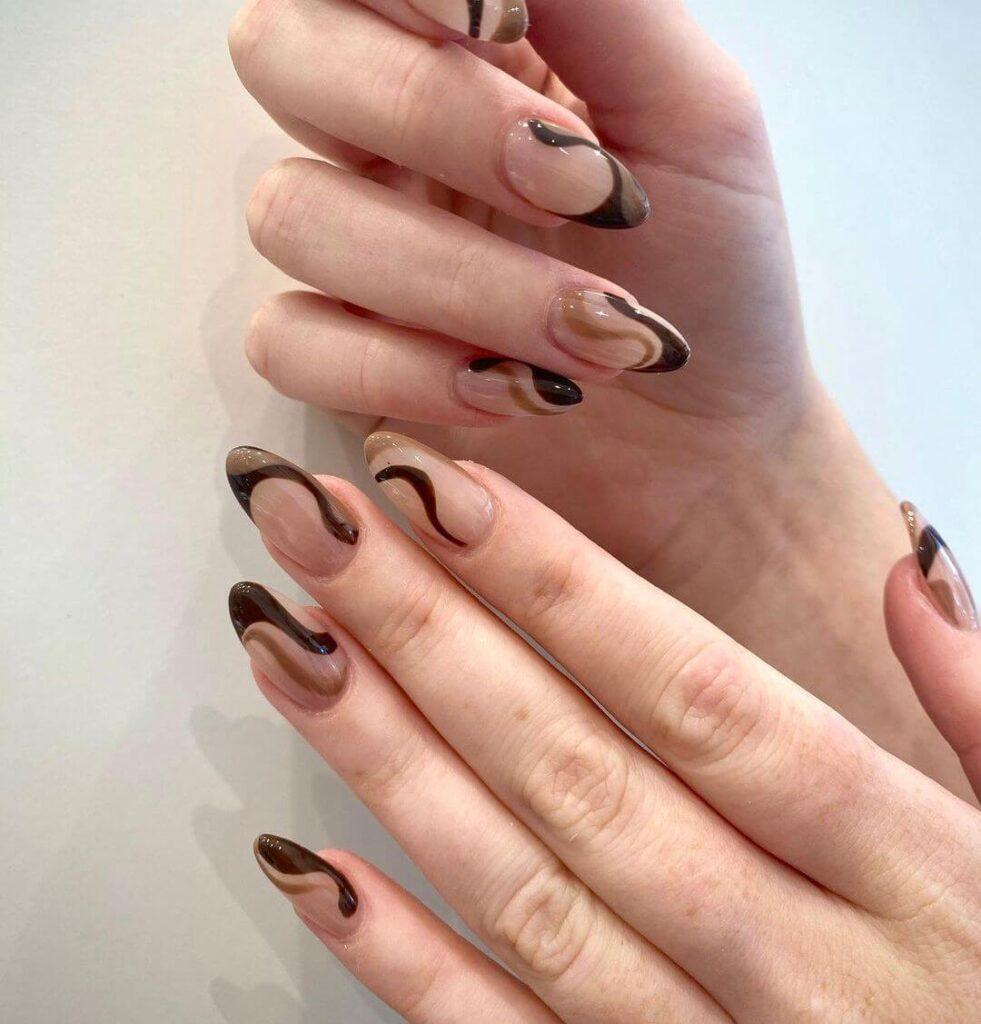 Abstract french nail