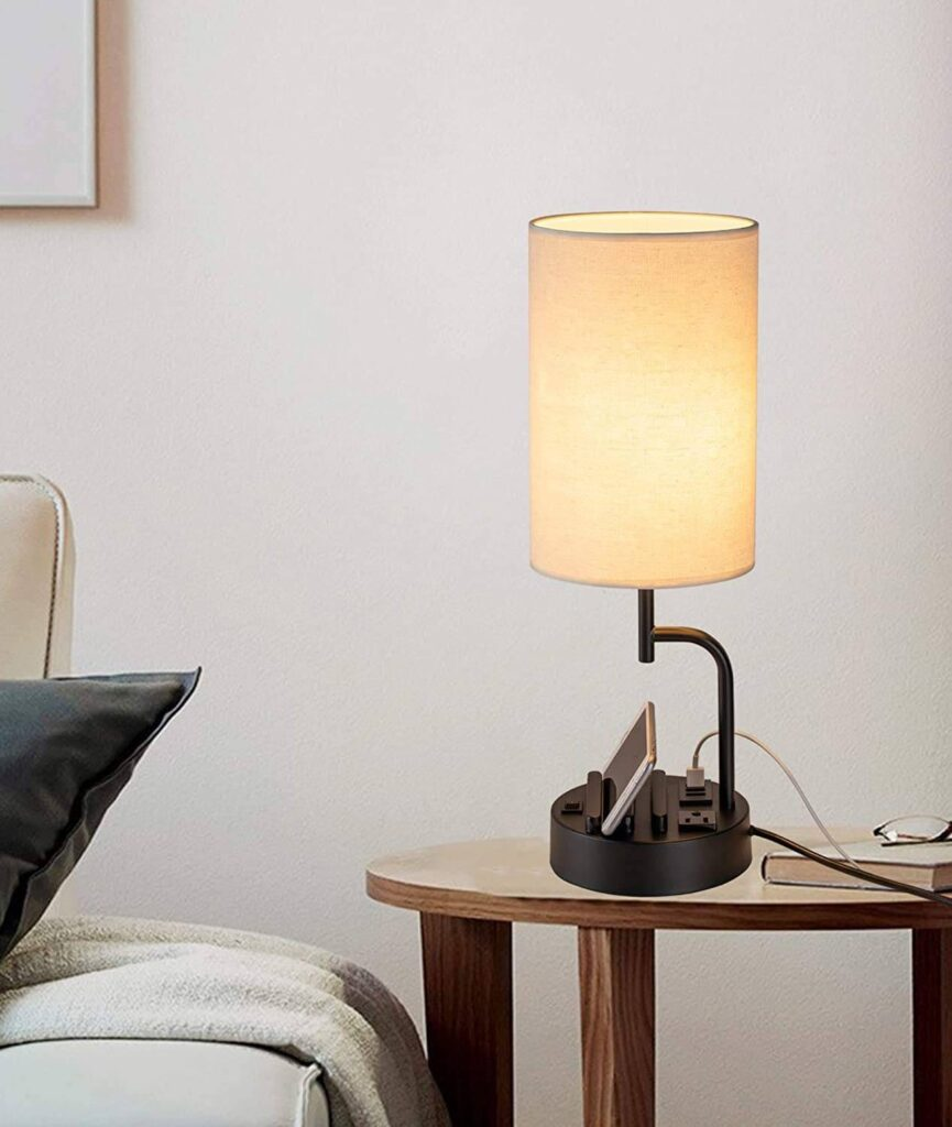 All-in-one modern table lamp