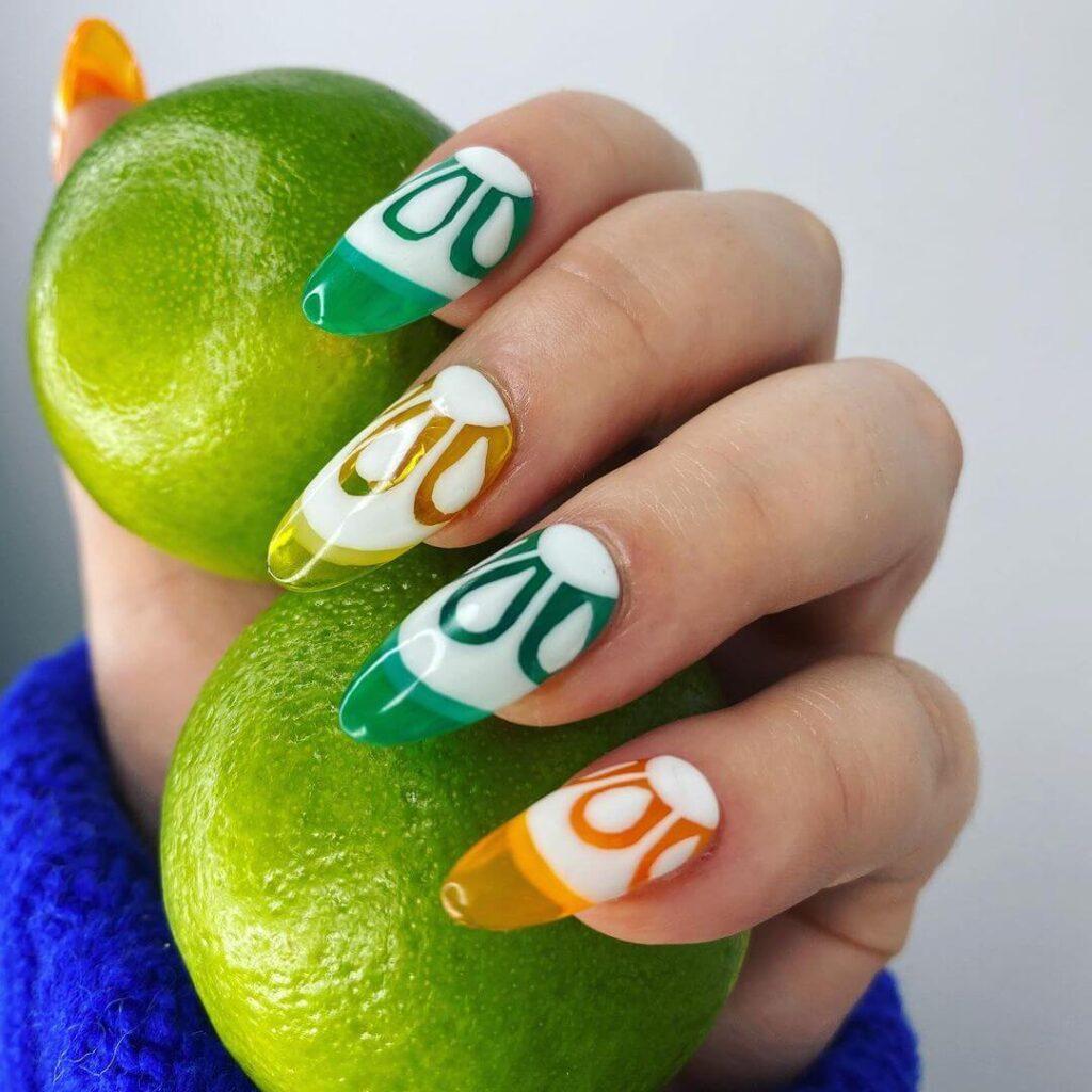 Amazing long fruit nails