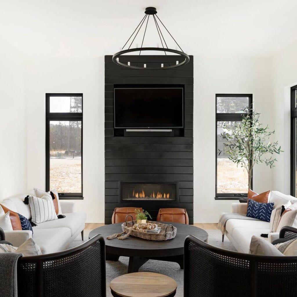Eye-catching living room