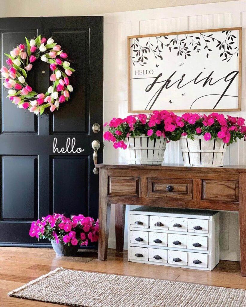 Bright entryway decoration