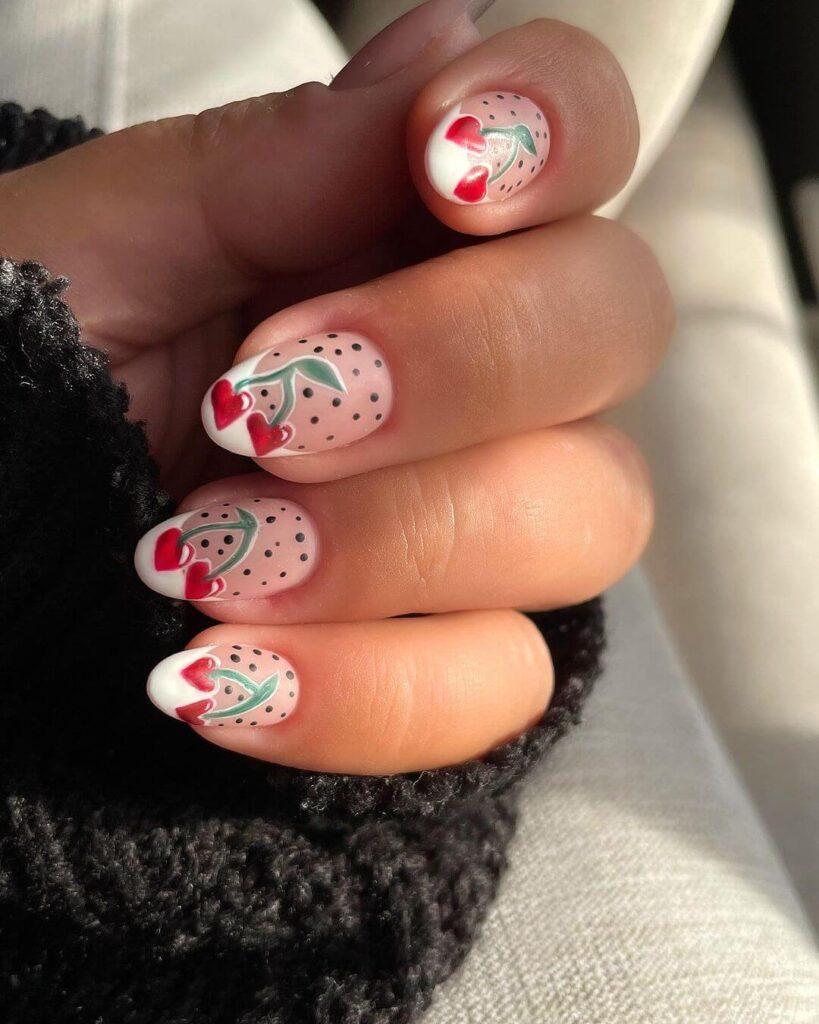 Cherry French nail