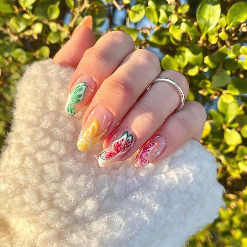 Creative fruit nails