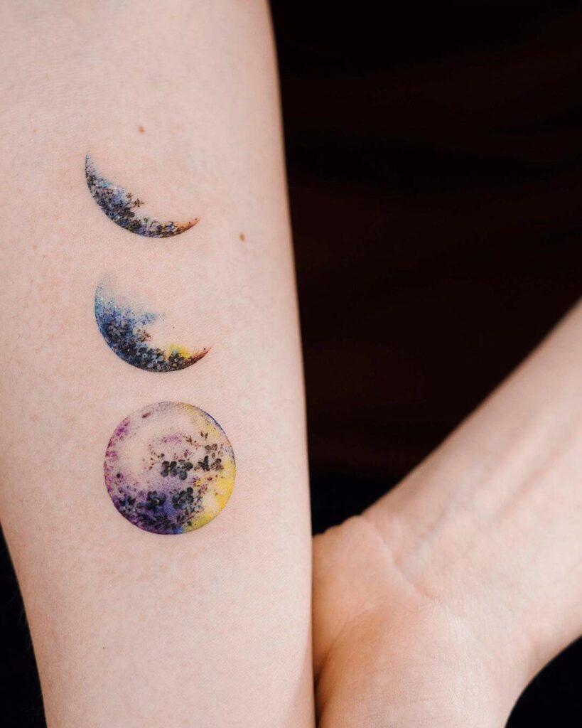 Creative full moon tattoo