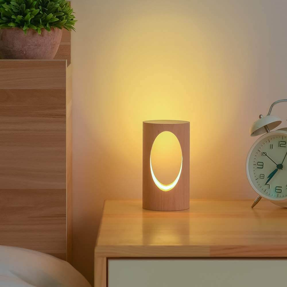 Cute little wooden table lamp