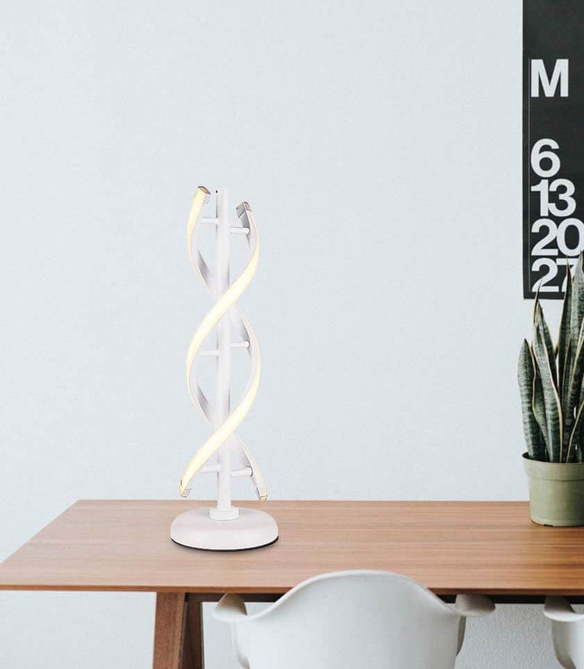 Double spiral table lamp