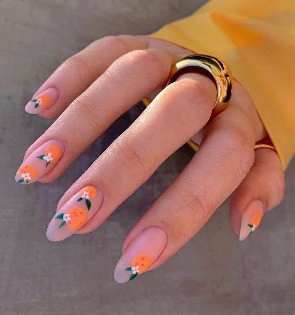 Elegant fruit nails